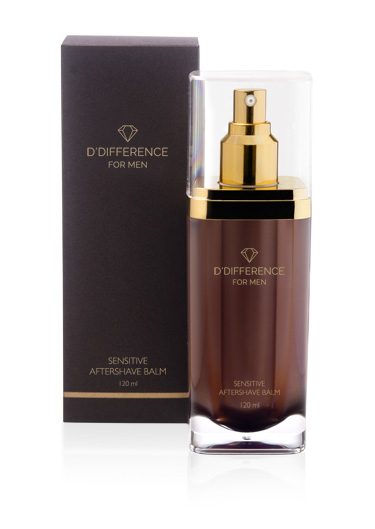 D'DIFFERENCE For Men Sensitive Aftershave Balm 120ml_w-box_web